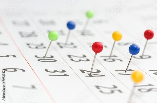 Leinwanddruck Bild Kalender - Termin