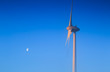 Wind turbine generating sustainable energy by the moon
