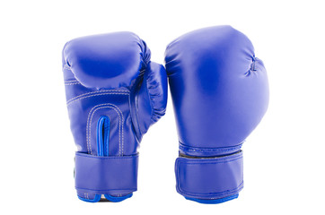 Blue boxing globes on a white background
