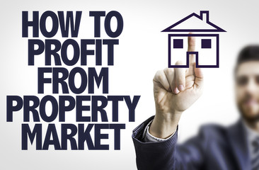 Business man pointingt: How to Profit From Property Market
