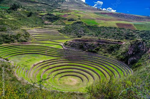 canvas print picture Ruinen von Moray in Peru