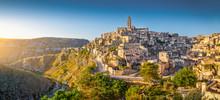 "Постер, картина, фотообои ""Ancient town of Matera at sunrise, Basilicata, Italy"""
