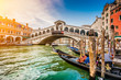 Canal Grande with Rialto Bridge at sunset, Venice, Italy - 79738825