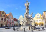 Holy trinity monument on the market in Ladek Zdroj