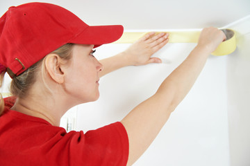 Home Painter with masking tape