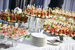 catering service table with food set - 79739093