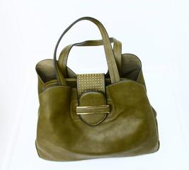 sac à main femme,mode kaki,fond blanc