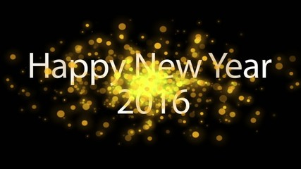 golden explosion sparkling, holiday happy new year 2016 HD