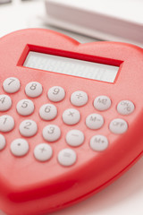 Close up of calculator in office