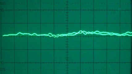 Low frequency on an oscilloscope 04