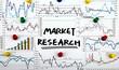 market research handwritten on whiteboard - 79741615