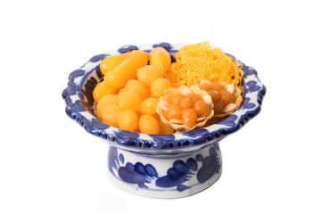 asian dessert ,made of bean-paste ,egg yoke fudge balls cooked i