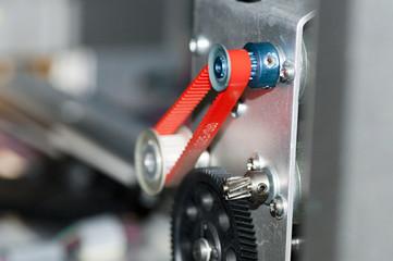 detail of a cog belt