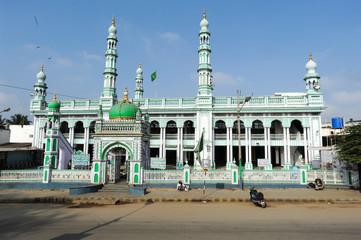 The mosque of Mysore on India