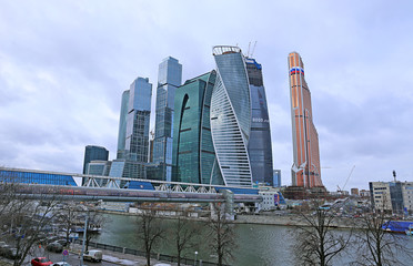 """Construction of Towers business center """"Moscow City"""""""