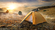 Tent on mountain - 79743847