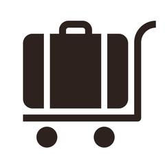 Baggage cart - travel icon