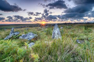 Standing Stones on Garrow Tor