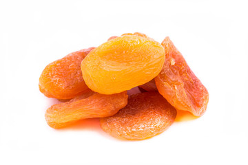 dried apricots fruit isolated on white background