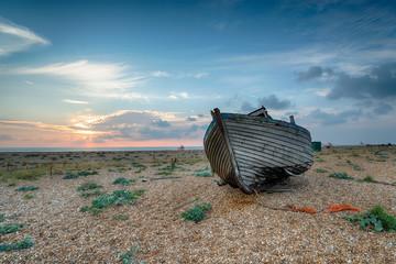 Old Fishing Boat at Sunrise