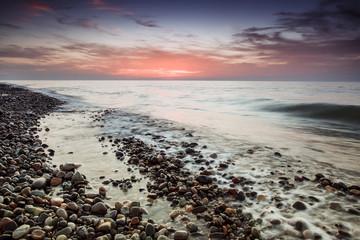 sea pebble beach sunset