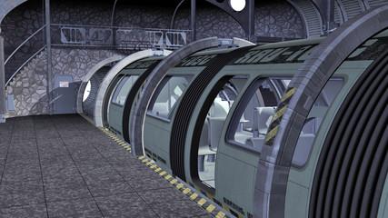 rame de métro futuriste