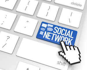 Social Network Enter Key