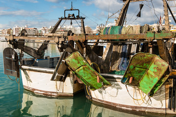 Popa de un barco pesquero