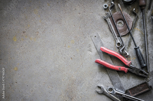 blank space on concrete floor - 79746069
