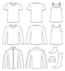 Singlet, T-shirt, Long-sleeved T-shirt, Jacket, Socks and Cap te