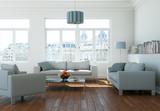 modernes helles Wohnzimmer - 79746405