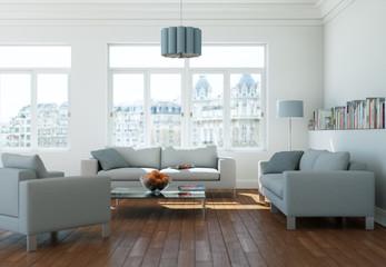 modernes helles Wohnzimmer