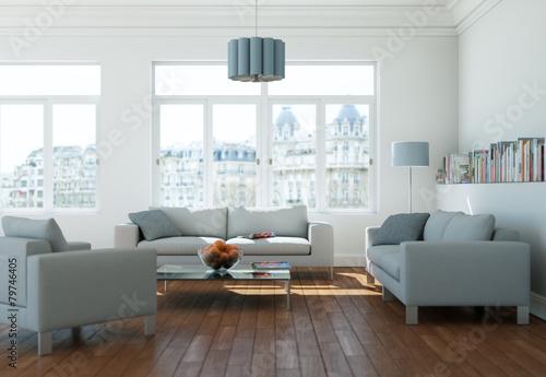 Zdjęcia na płótnie, fototapety, obrazy : modernes helles Wohnzimmer