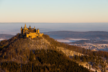 Burg Hohenzollern Wintersonnenaufgang