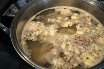 soup broth pork stove gas sweet concept