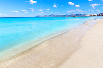 Mallorca Can Picafort beach in alcudia bay Majorca