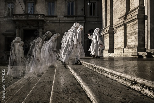 Group of nuns in Rome