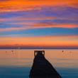 Leinwanddruck Bild - Majorca Muro beach sunrise Alcudia Bay Mallorca