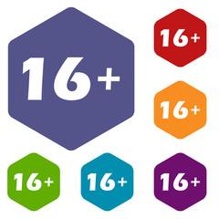 Age rhombus icons
