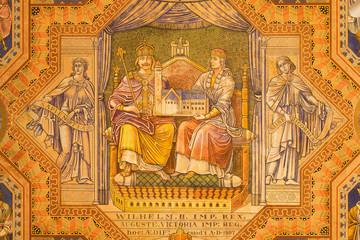 Jerusalem - Emperor Wilhelm II and queen Auguste Victoria