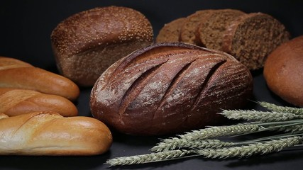 Replenishment of bread collection in the store