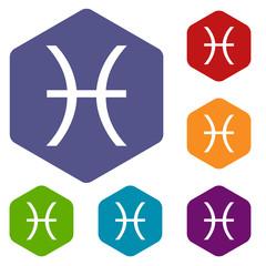 Pisces rhombus icons