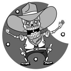 Skeletons. T-shirt. Western