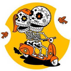 Skeletons. T-shirt. Ways of Love