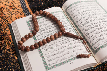Quran Page Open on Hajj Ayah