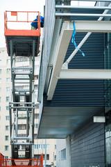 hydraulic scissor lift construction