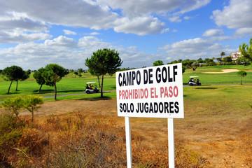 Límites del campo de golf, solo jugadores