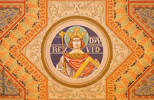 Jerusalem - The king David fresco