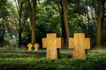 Friedhof in Fantasievoller Stimmung