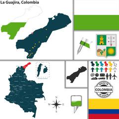 Map of La Guajira, Colombia